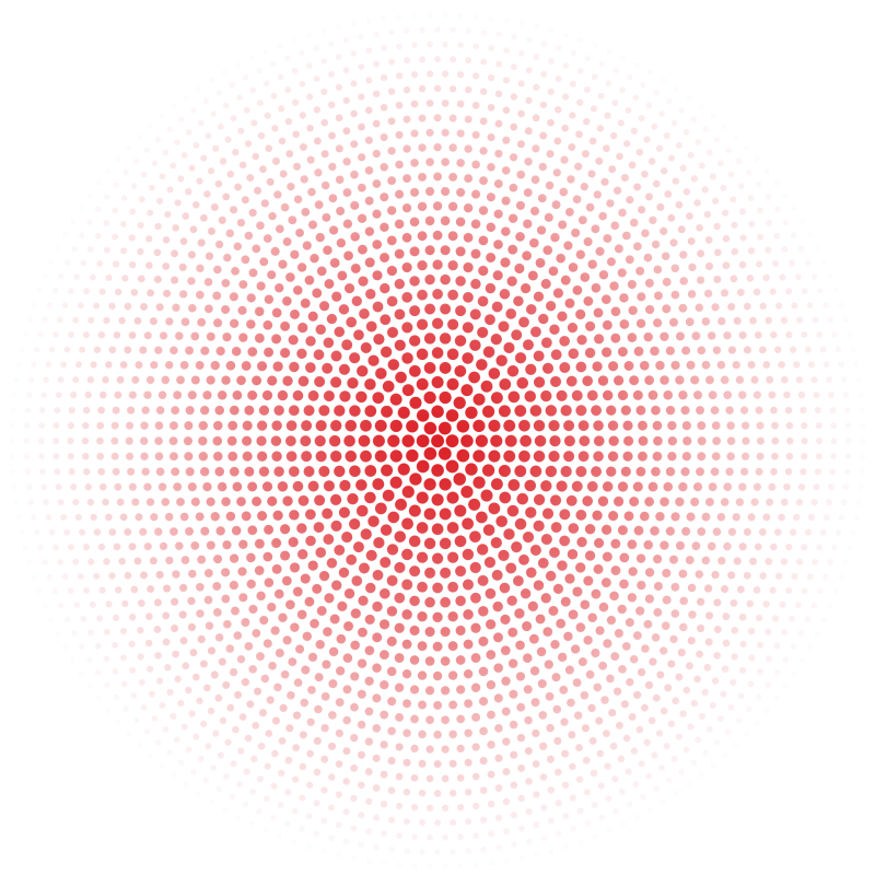 Radial dot pattern