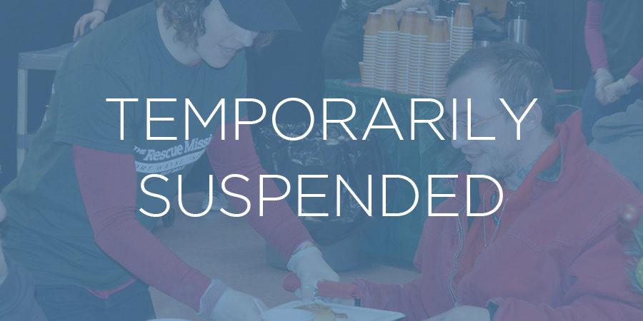 Volunteering image temp suspended