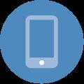 Blue circle phone