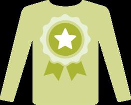 Shirt with ribbon