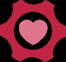Red gear heart