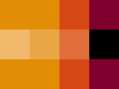 red and orange blocks