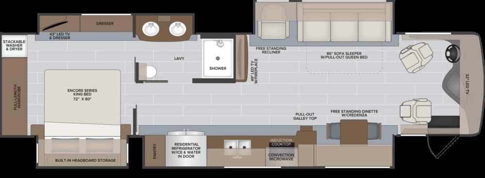 38 F ENDEAVOR MY21 HR floorplan