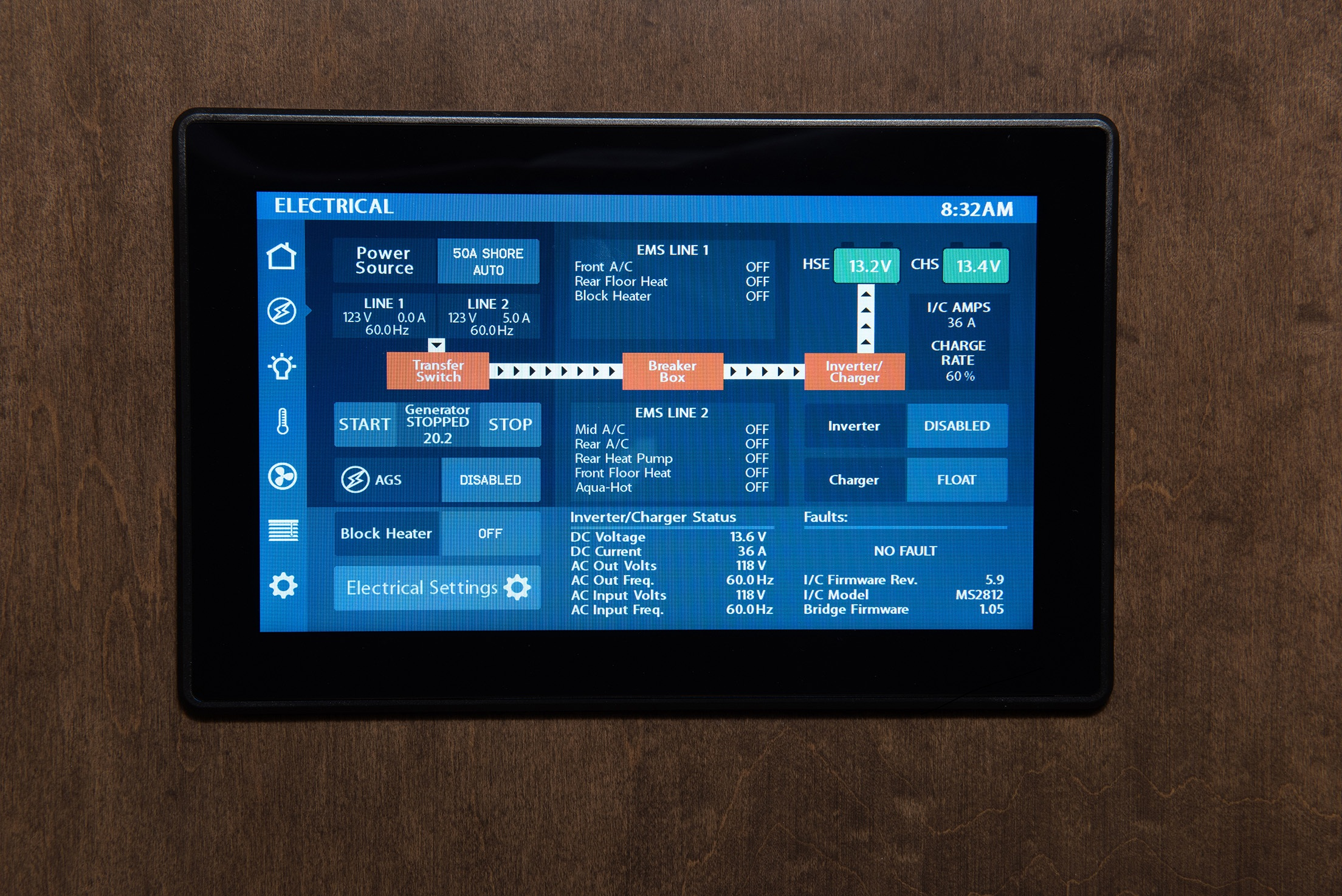 Take control with the Firefly touchscreen monitor. Control conveniently from your smart phone.