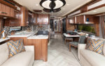 2020 American Eagle shown in Inspiration interior decor with American Black Walnut cabinetry.