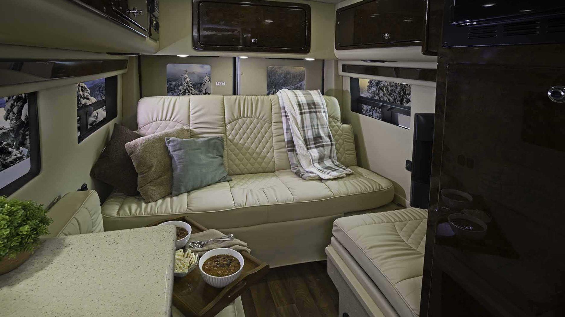 Spacious and comfortable lounge.