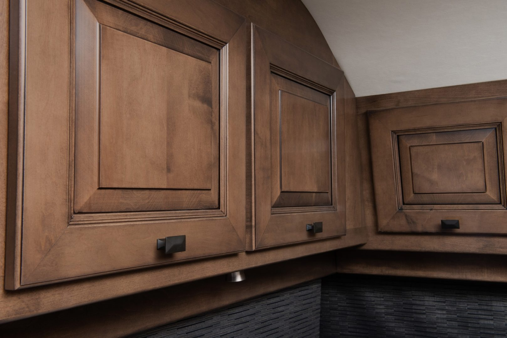 Cognac solid wood cabinetry