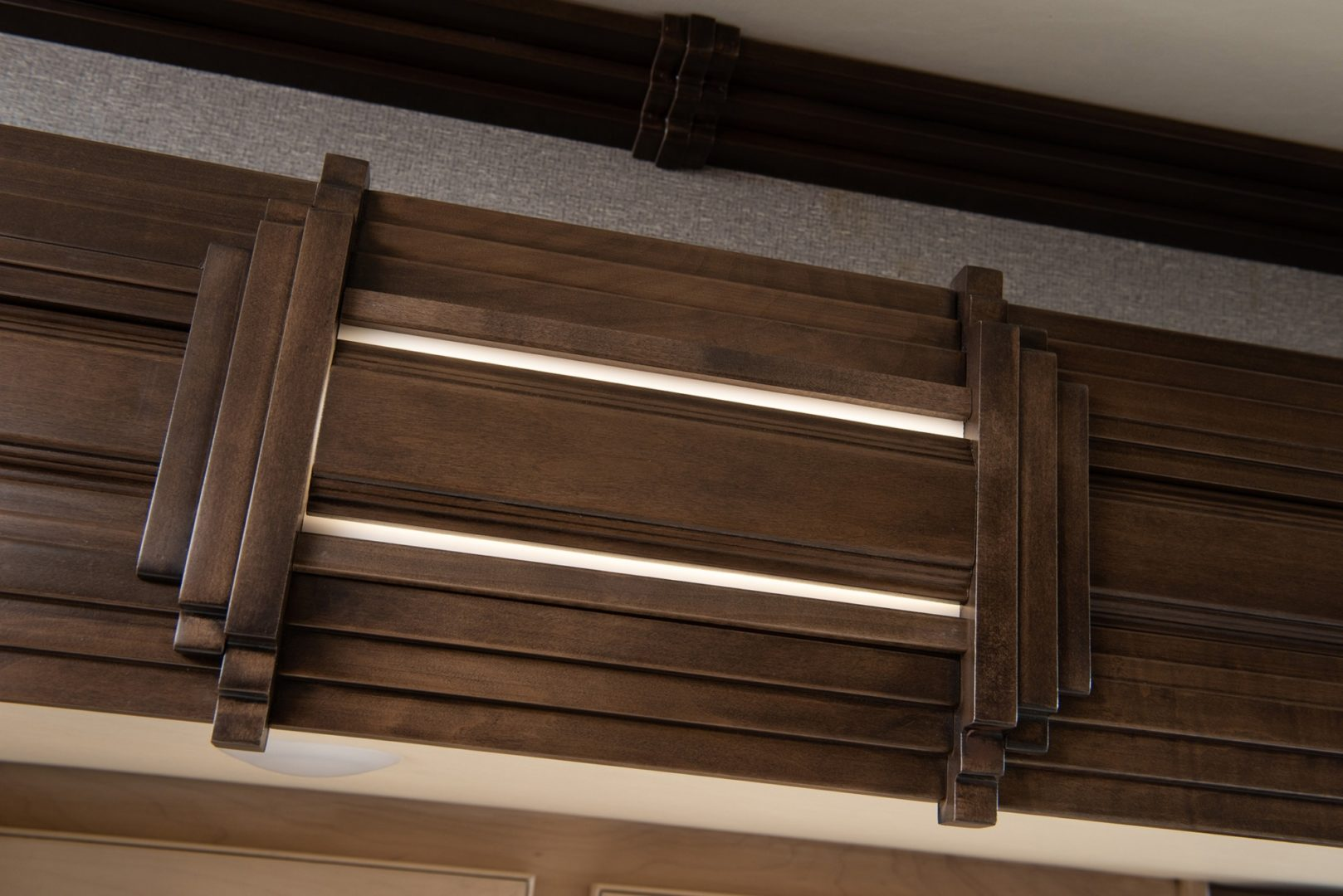 Cognac solid wood trim