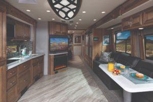 Navigator 38K Reflection Decor with Nutmeg Cabinetry