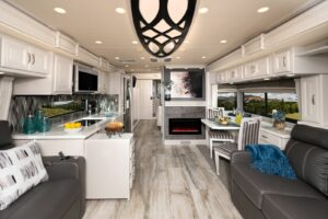 Endeavor 38W Savanna Decor with Fossil Cabinetry