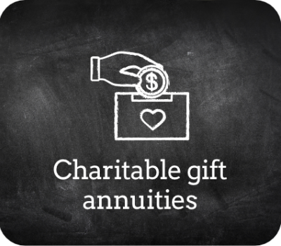 Chalkboard charitable gift annuities